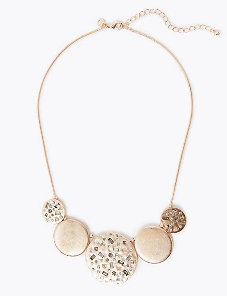 Circle Encrusted Collar Necklace