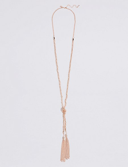 Ball Chain Tassel Necklace