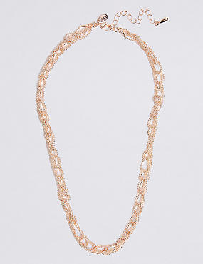 Looped Ball Chain Necklace