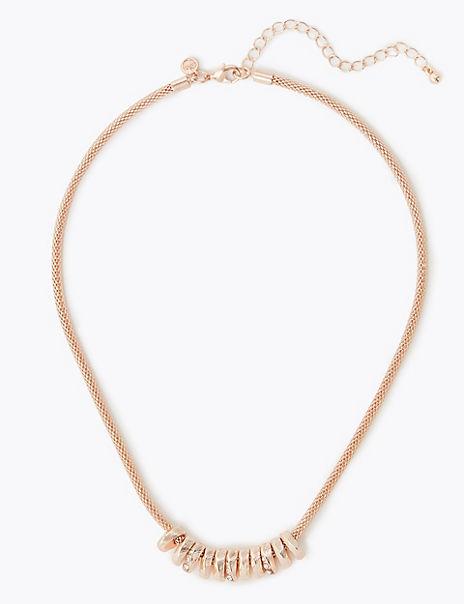 Rondelle Mesh Chain Necklace