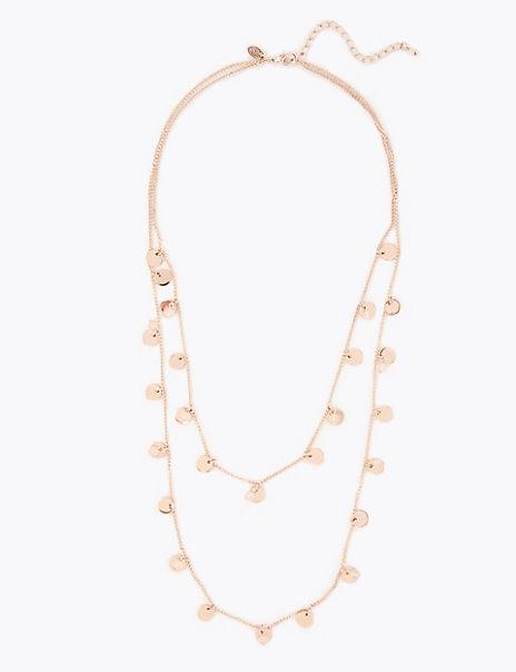 Flat Disc Pendant Necklace