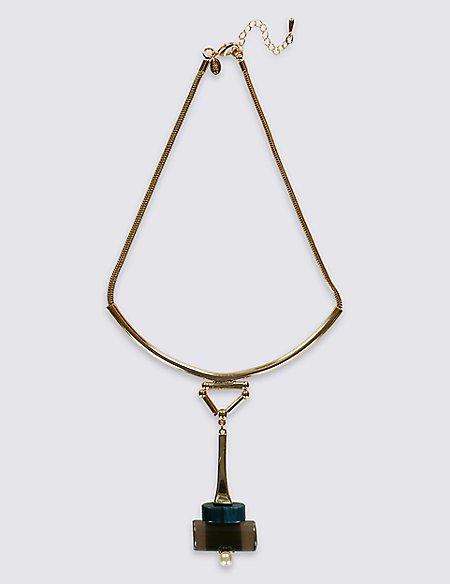 Resin Swinger Torque Necklace