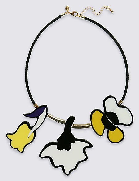 Painted Floral Necklace