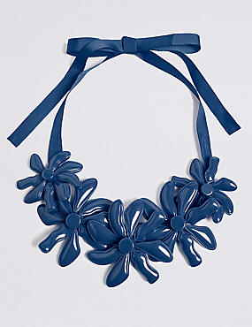 Abstract Flower Collar Necklace