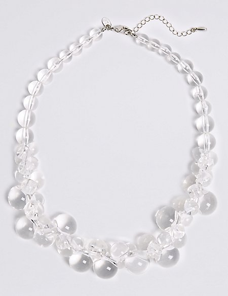 Clear Ball Collar Necklace