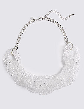 Glass Chain Collar Necklace