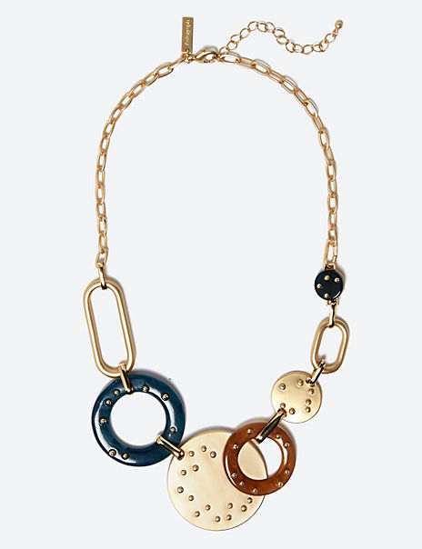 Studded Hoop Necklace