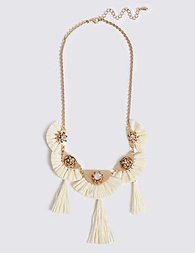 Raffia Fan Necklace