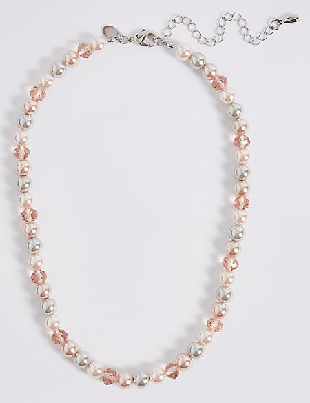 Pearl Effect Collar Necklace
