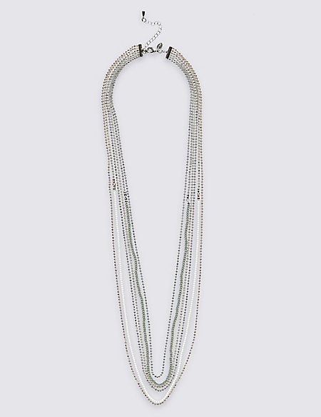 Multi-Row Sparkle Necklace