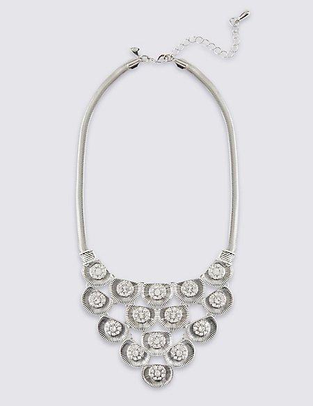 Floral Diamanté Necklace