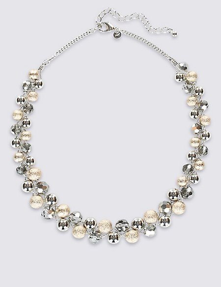 Assorted Bead Twist Glass Necklace