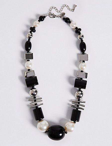 Short Mixed Shape Necklace
