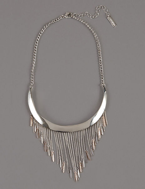 Sparkle Tassel Torque Necklace
