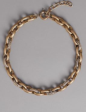 Glitzy Link Necklace
