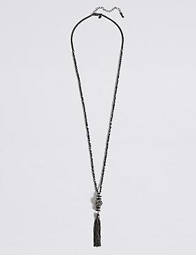 Orient Sparkle Tassel Necklace