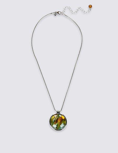 Round Swirl Ball Necklace