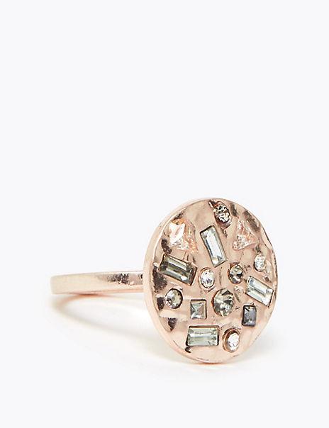 Encrusted Mosaic Ring