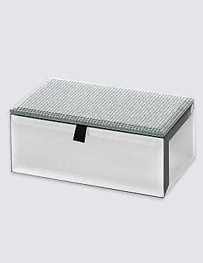 Rectangular Glitter Small Jewellery Box