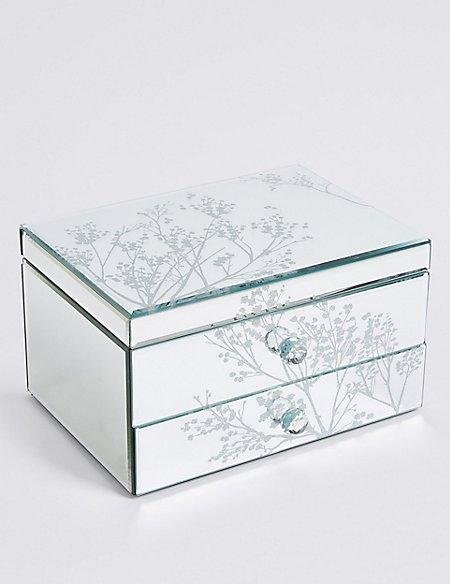 Cherry Blossom 2 Drawer Jewellery Box