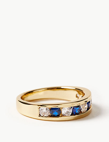 Gold Plated Stone Set Ring