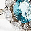 Platinum Plated Pretty Ring, BLUE MIX, swatch