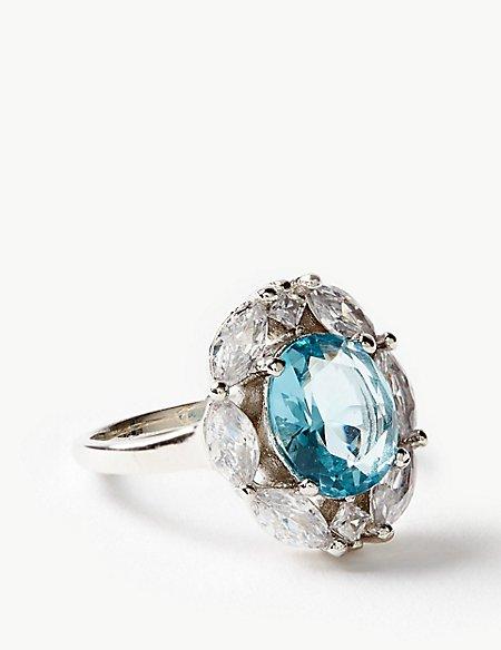 Platinum Plated Pretty Ring