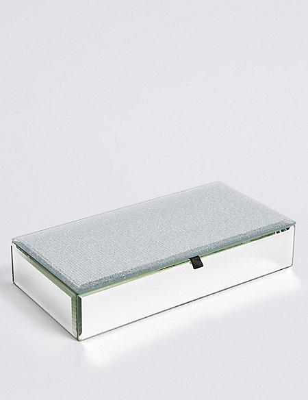 Rectangle Glitter Jewellery Box