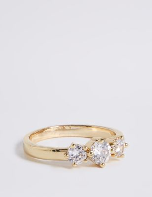 Gold Plated Sparkle Ring by Marks & Spencer