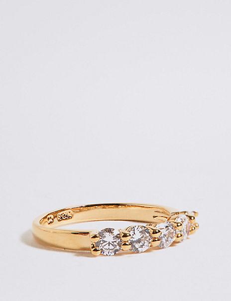 Diamanté Five Stone Ring