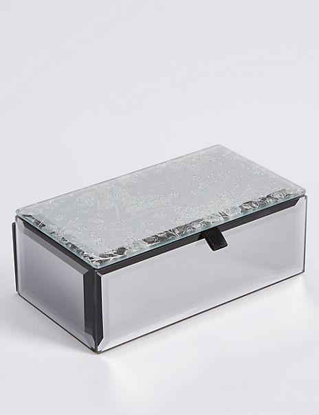 Glitter Butterfly Jewellery Box