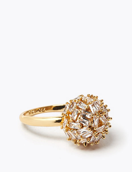 Gold Plated Sparkle Ball Ring