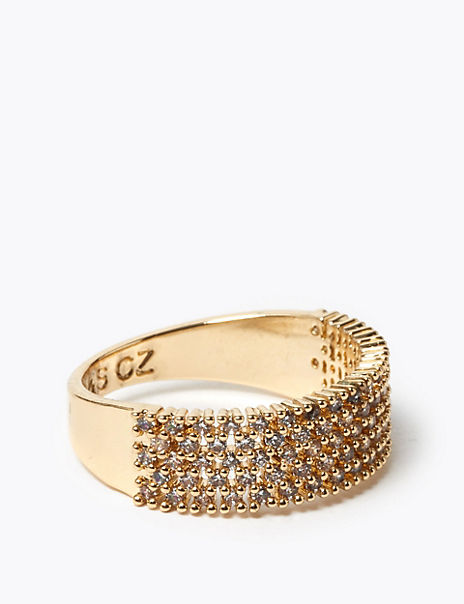 Gold Plated Sparkle Band Ring
