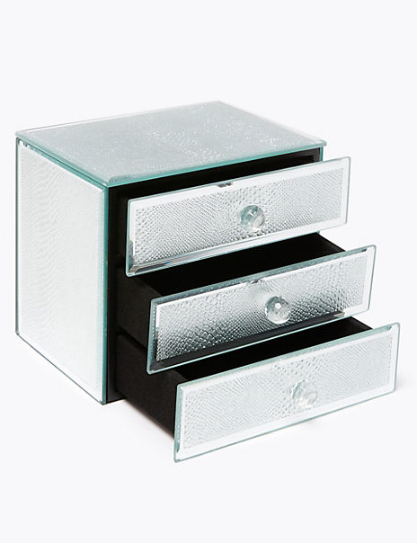 3 Drawer Sparkle Jewellery Box
