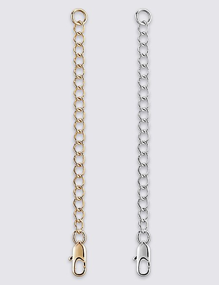 Gold & Silver Plated Necklace Extenders