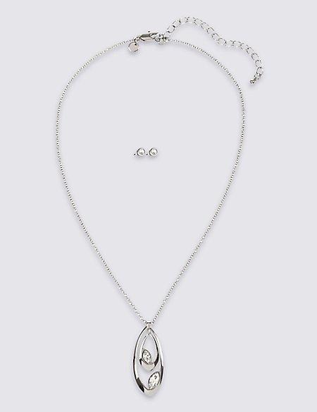 Double Drop Set With Swarovski® Crystals