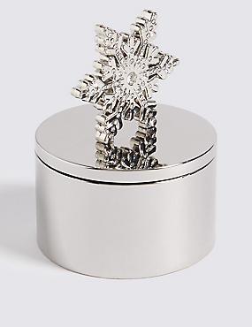 Snow Flake Trinket Box