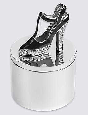 Diamanté Encrusted Shoe Trinket Box