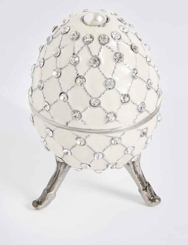 Gustavs Egg Diamanté Encrusted Trinket Box