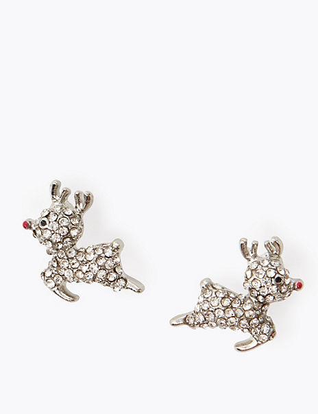 Rudolph Crystal Stud Earrings