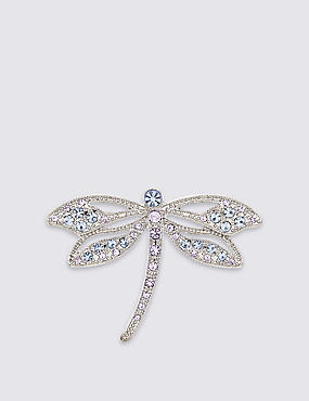 Diamanté Dragonfly Brooch