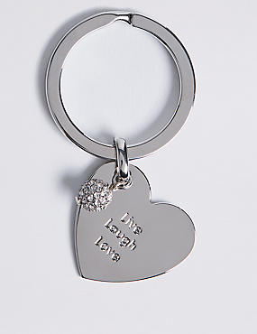 Live Laugh Love Keyring