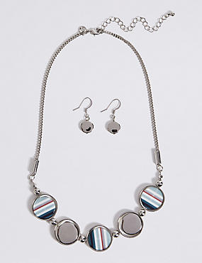 Disc Necklace & Earrings Set