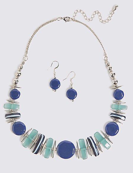 Horizon Shapes Necklace & Earrings Set