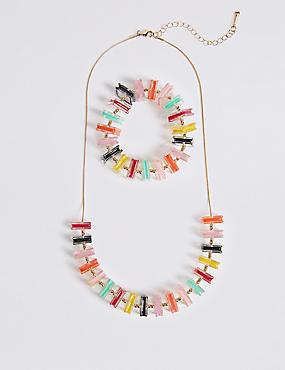 Fair & Square Necklace & Bracelet Set