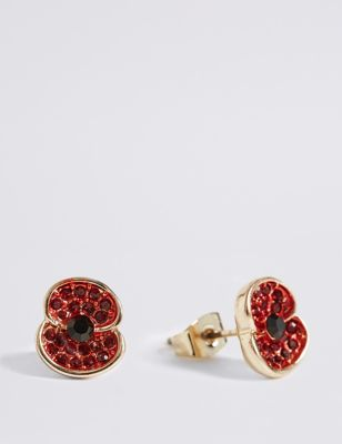 Shoptagr | The Poppy Collection® Sparkle Poppy Earrings by Marks