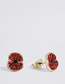 The Poppy Collection® Sparkle Poppy Earrings