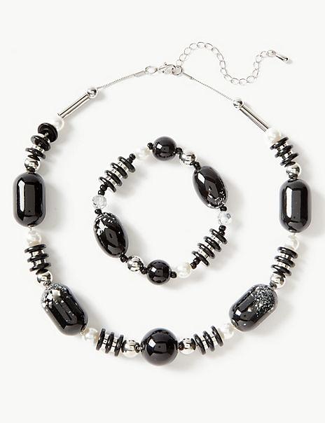 Fleck Necklace & Bracelet Set