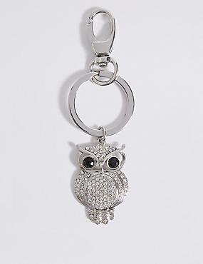 Pave Owl Keyring