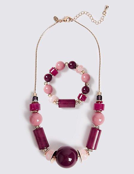 Berry Burst Necklace & Bracelet Set